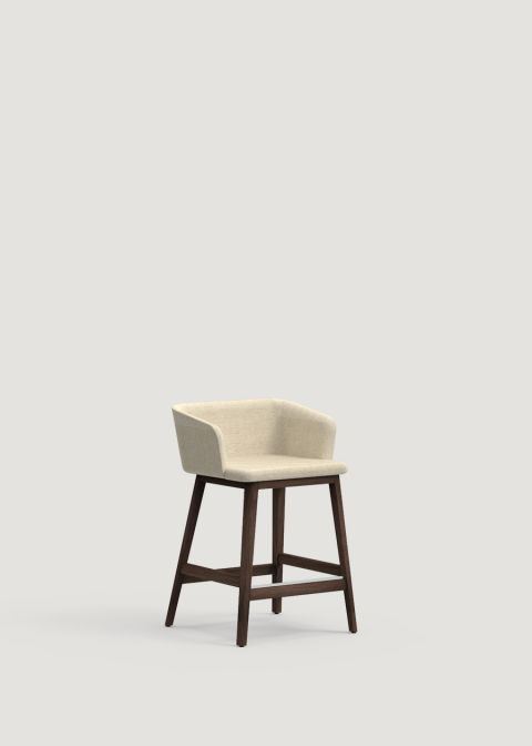 Concord Low And Wide Barstool Wooden Base